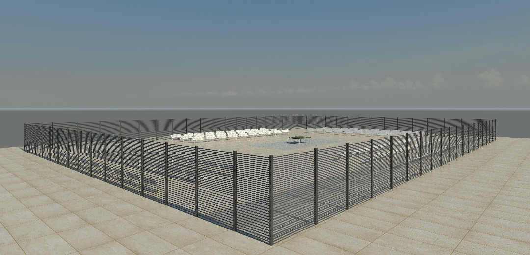 wire mesh fence square