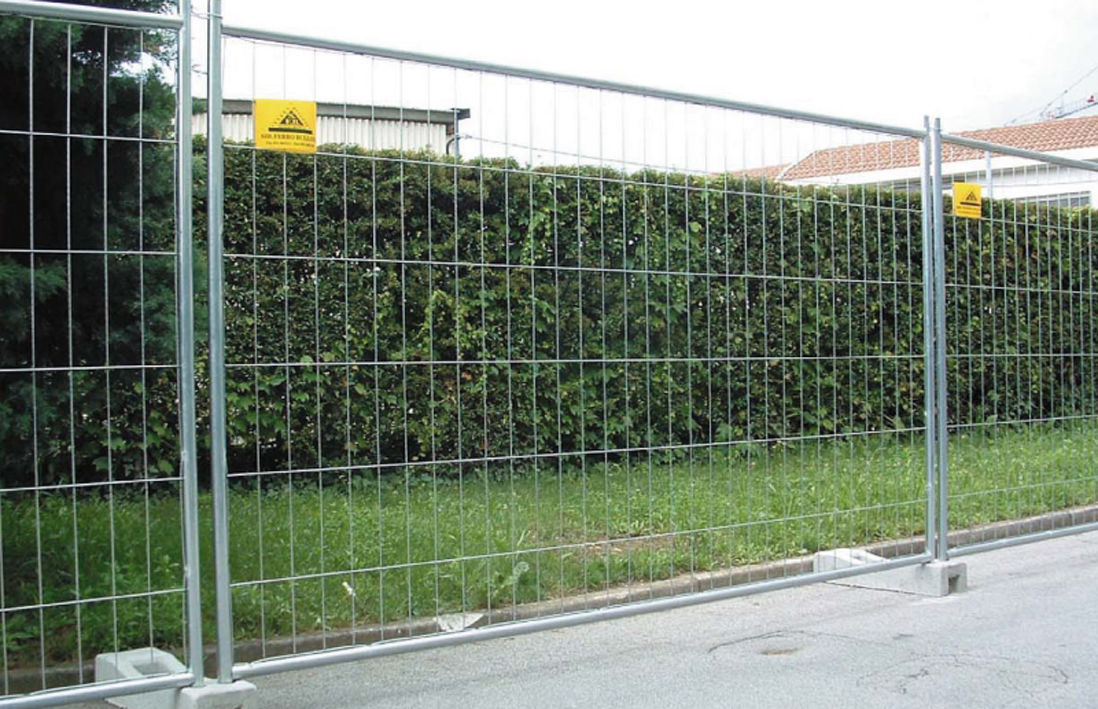 wire mesh fence construction site