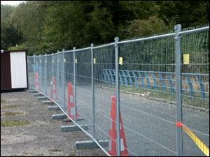 wire mesh fence baricade