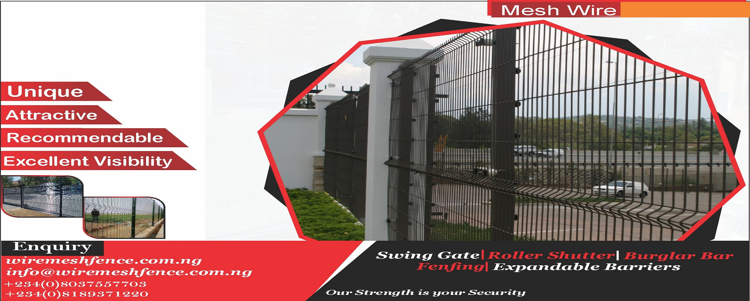 buy wire mesh fence in Nigeria