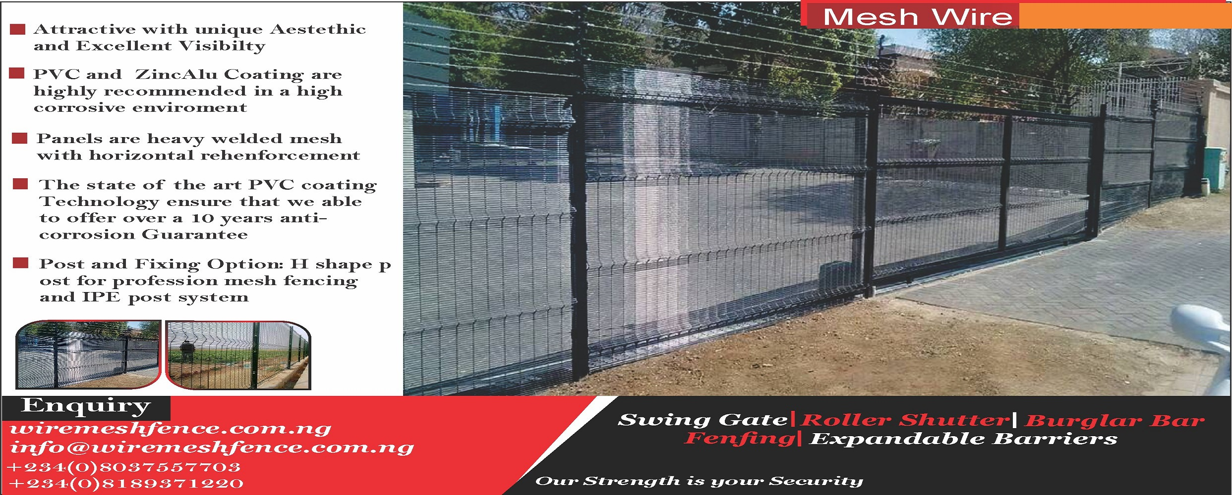 wire mesh fence in Nigeria