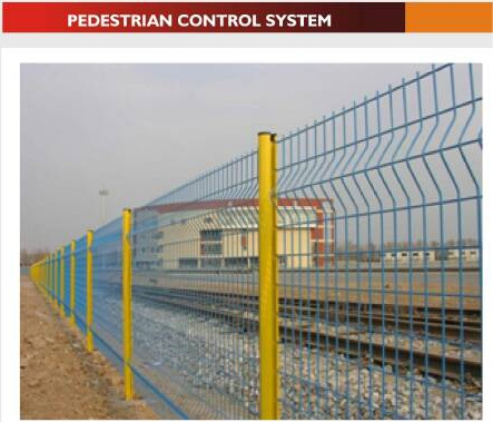 wire mesh fence pedestral